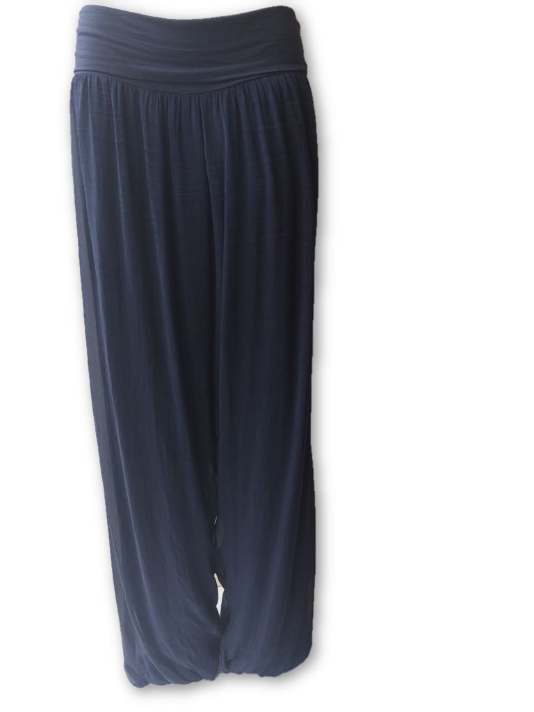Stella Wide Leg Silk-Mix Trousers