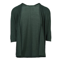 Short Sleeve Knit Cardigan in Green