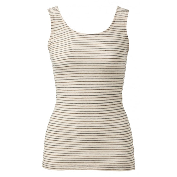Linen Mix Striped Vest Top