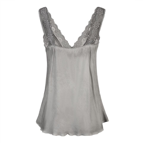 Vintage Lace Cami in Grey