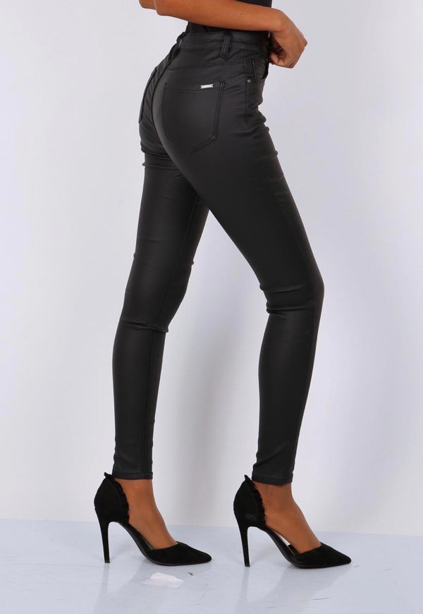 Cara coated Jeans - Dark Grey