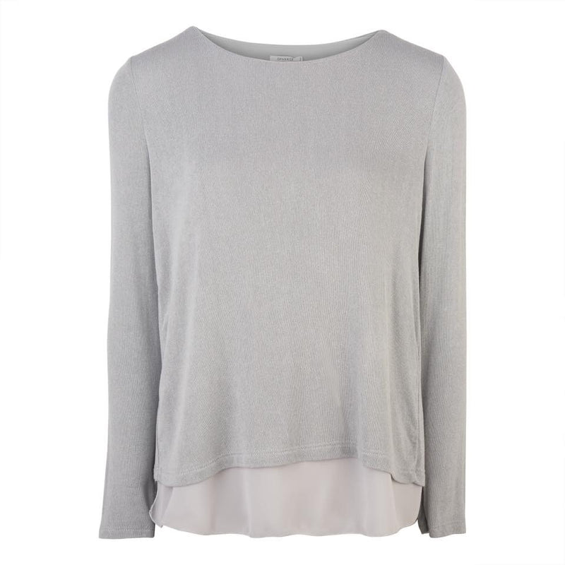 Abigail Cross Back Jumper in Silver Grey
