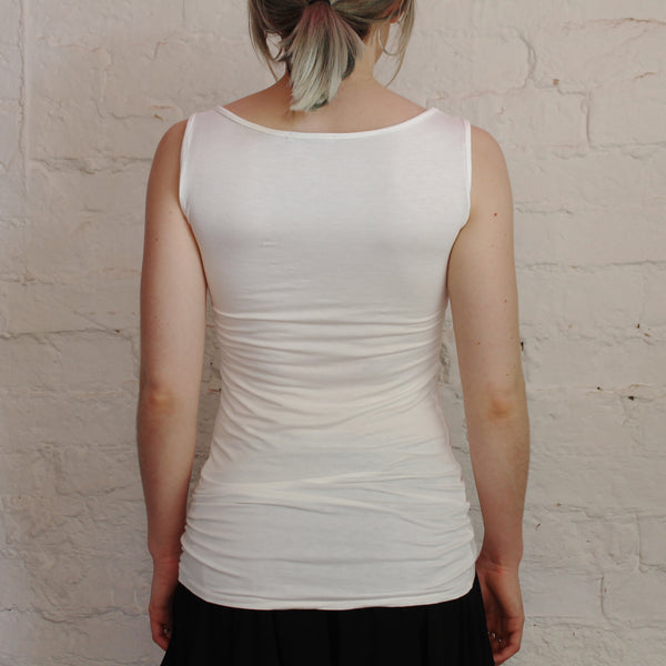 Jane Long Vest in Ivory