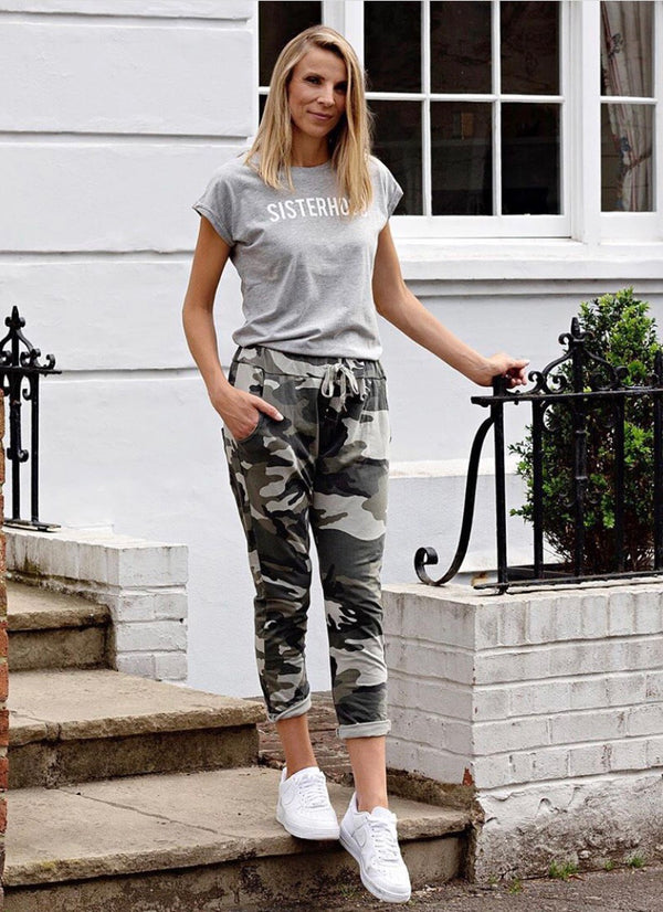 Camouflage Drawstring Joggers