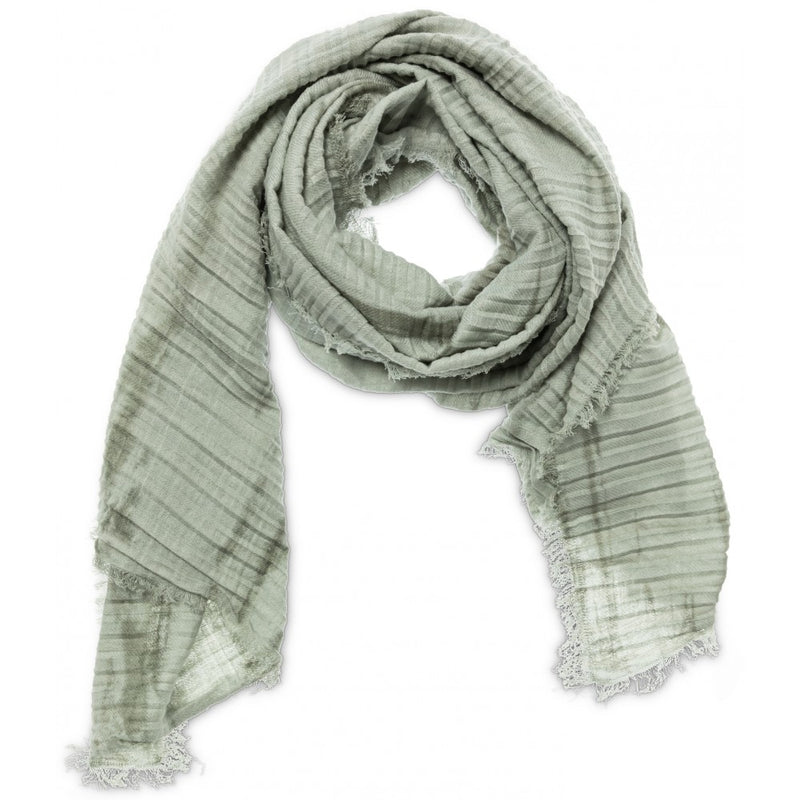 Pleated Linen Tie Dye Scarf