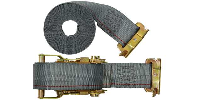 "2"" x 16' Ratchet Buckle E Track Strap - Box of 20."