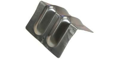 "6"" Grooved Steel Corner Protector for Webbing & Chain"