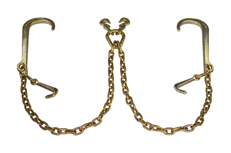 "5/16″ V-Chain with 15"" J-Hooks and Mini-J  (Made in USA)"