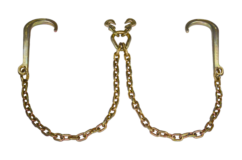 5/16″ V-Chain Clusters with Long J-Hooks  (Made in USA)