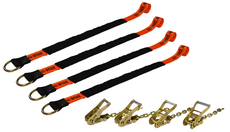 4-Point Lasso Strap Tie Down Kit