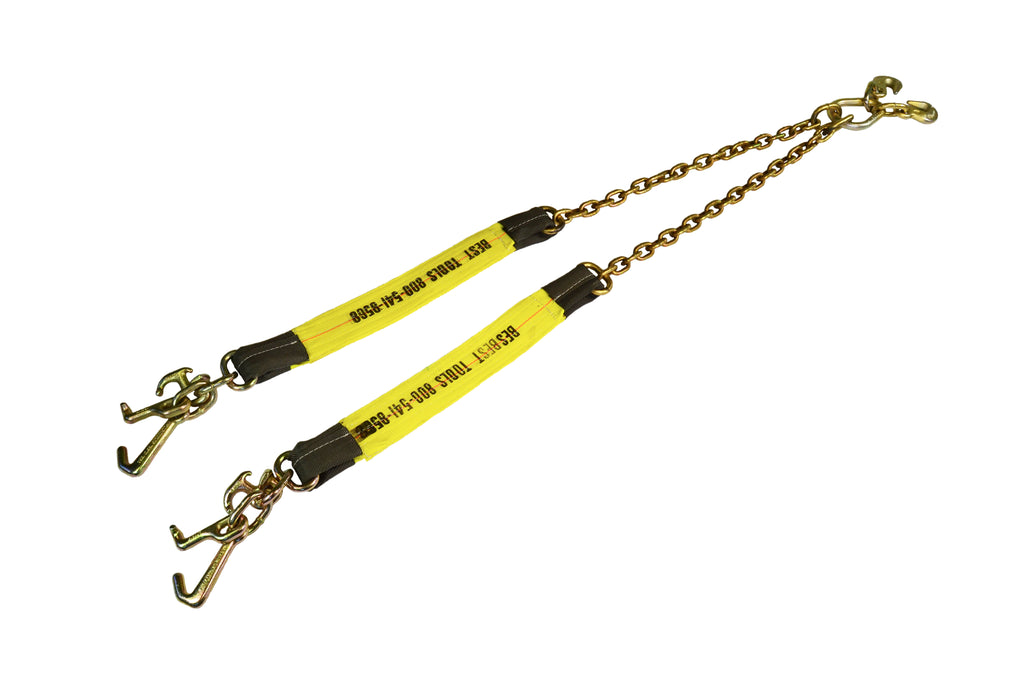 "24"" Combination V-Strap and Chain with Cluster Hooks"