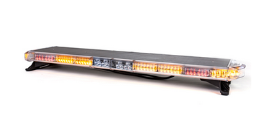 "59"" Torrent LED - MID Light Bar - 4 Flashing corners, 3 front, 3 rear flashing inboards - Dual rear facing 6 LED work lights.  Light Bar V2 STOP / TAIL / TURN from Brooking Industries."
