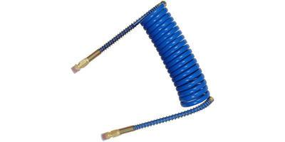 15 ft. Air Brake Hose Heavy Duty Coiled Blue