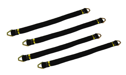 "Axle Straps with Sleeve Kit includes 4pcs of 2"" x 36"" Straps."