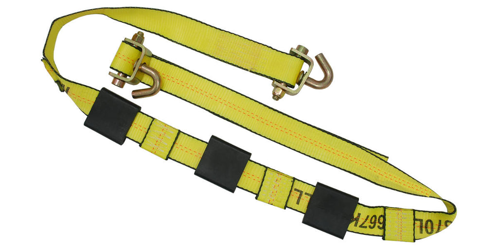 "2"" x 12FT Auto Transport Wheel Strap - Swivel J Hooks"
