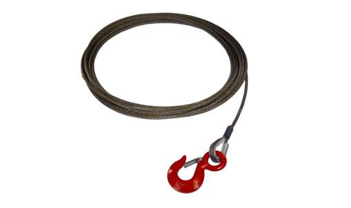 "These 1/2"" Steel Core Winch Cables Fixed Hook with Latch are assembled and made in the USA with all domestic material."