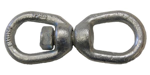 "1"" Hot Dip Galvanized Drop Forged Swivel E/E"