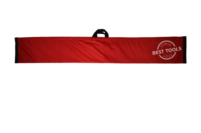 RED Magic Wand Lockout Pouch is made of Nylon/Poly and comes with a Velcro Fastener.