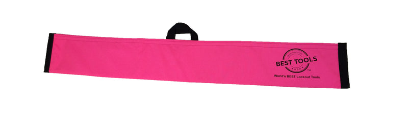 Pink Magic Wand Lockout Pouch is made of Nylon/Poly and comes with a Velcro Fastener.