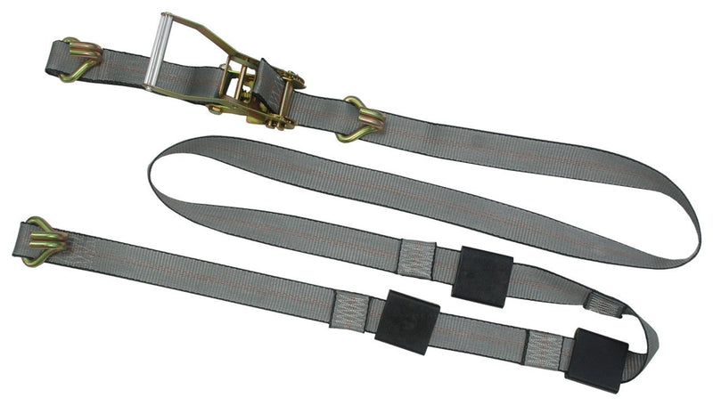 "2"" x 10FT Wheel Strap with Ratchet Wire J Hooks"
