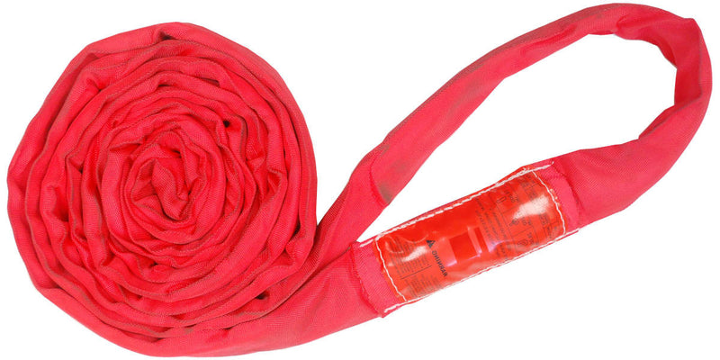 Red Polyester Round Slings