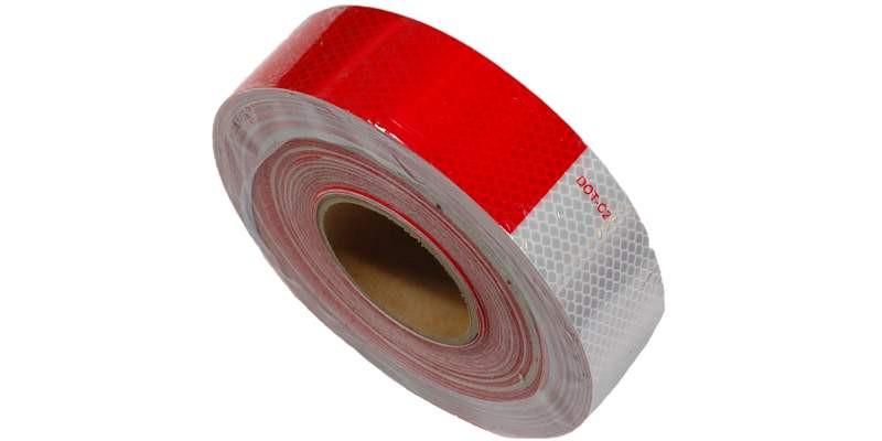 2''x25' Tape Conspicuous Red Silver Safety Truck