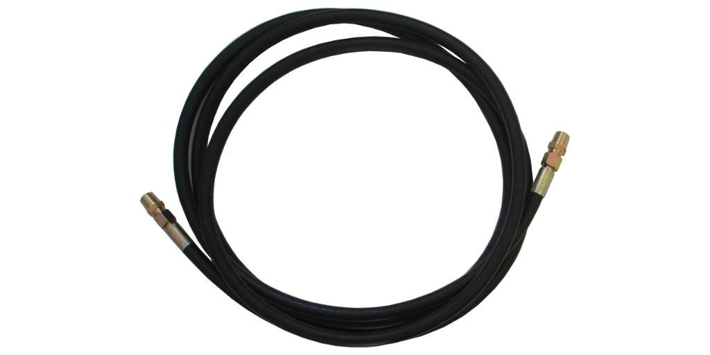 900 PSI Rubber Air Brake Hose  1/2'' Brass Connector