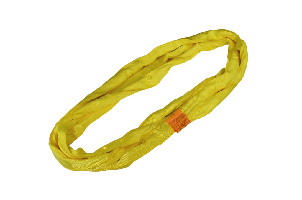 Yellow Round Polyester Slings - Made in USA