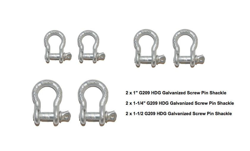 Screw Pin Anchor Shackle Kit