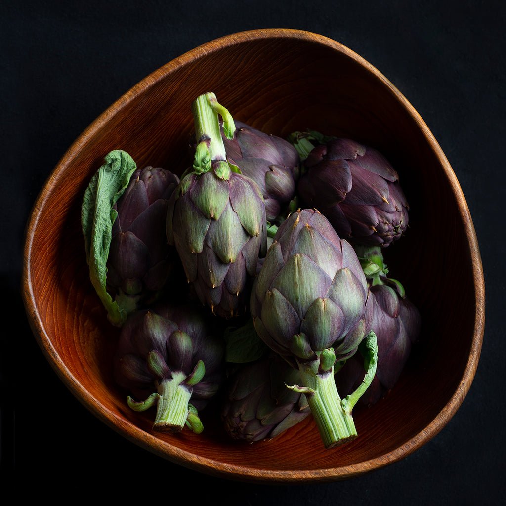 Fine Art Metal Print, Bowl of Artichokes
