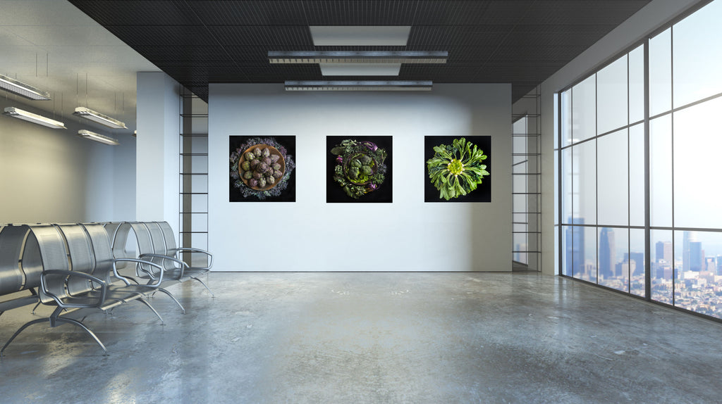 Mandala Fine Art Metal Print, Cauliflower, Radish and Beet