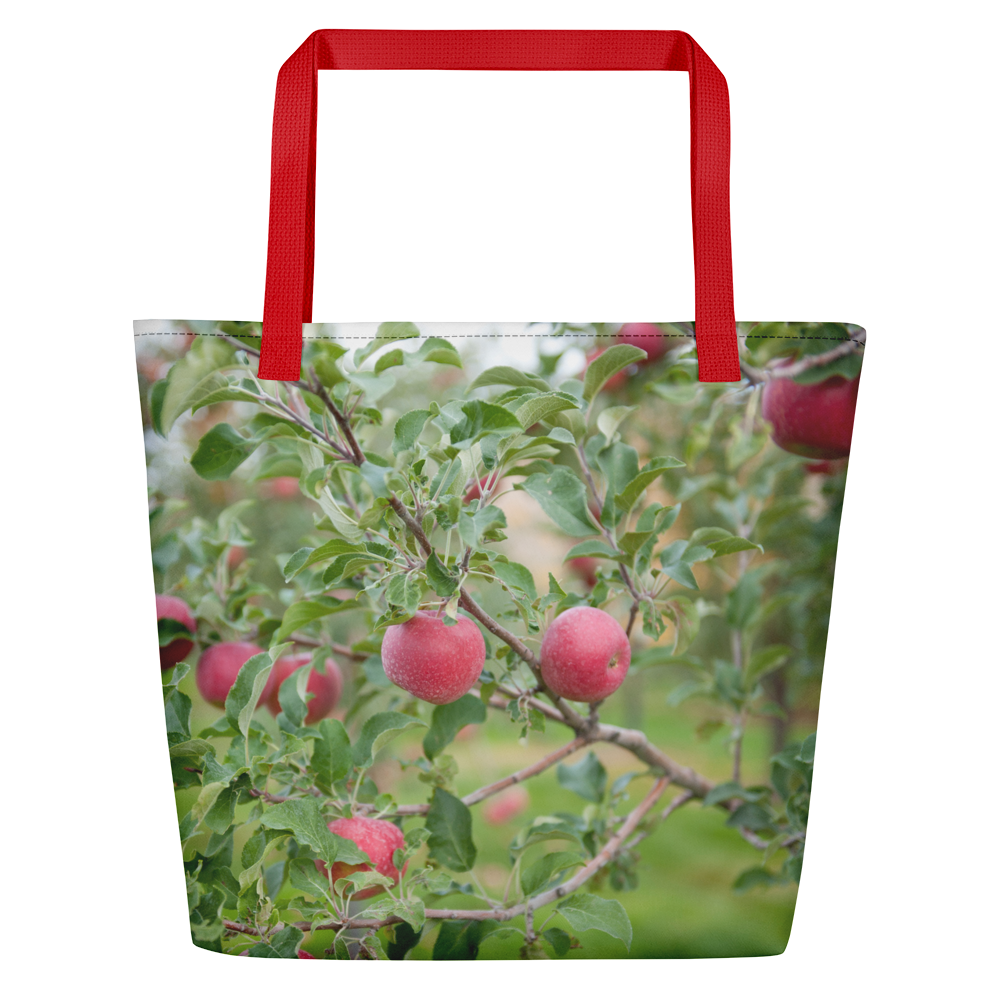 Large Tote/Beach Bag Apple Orchard