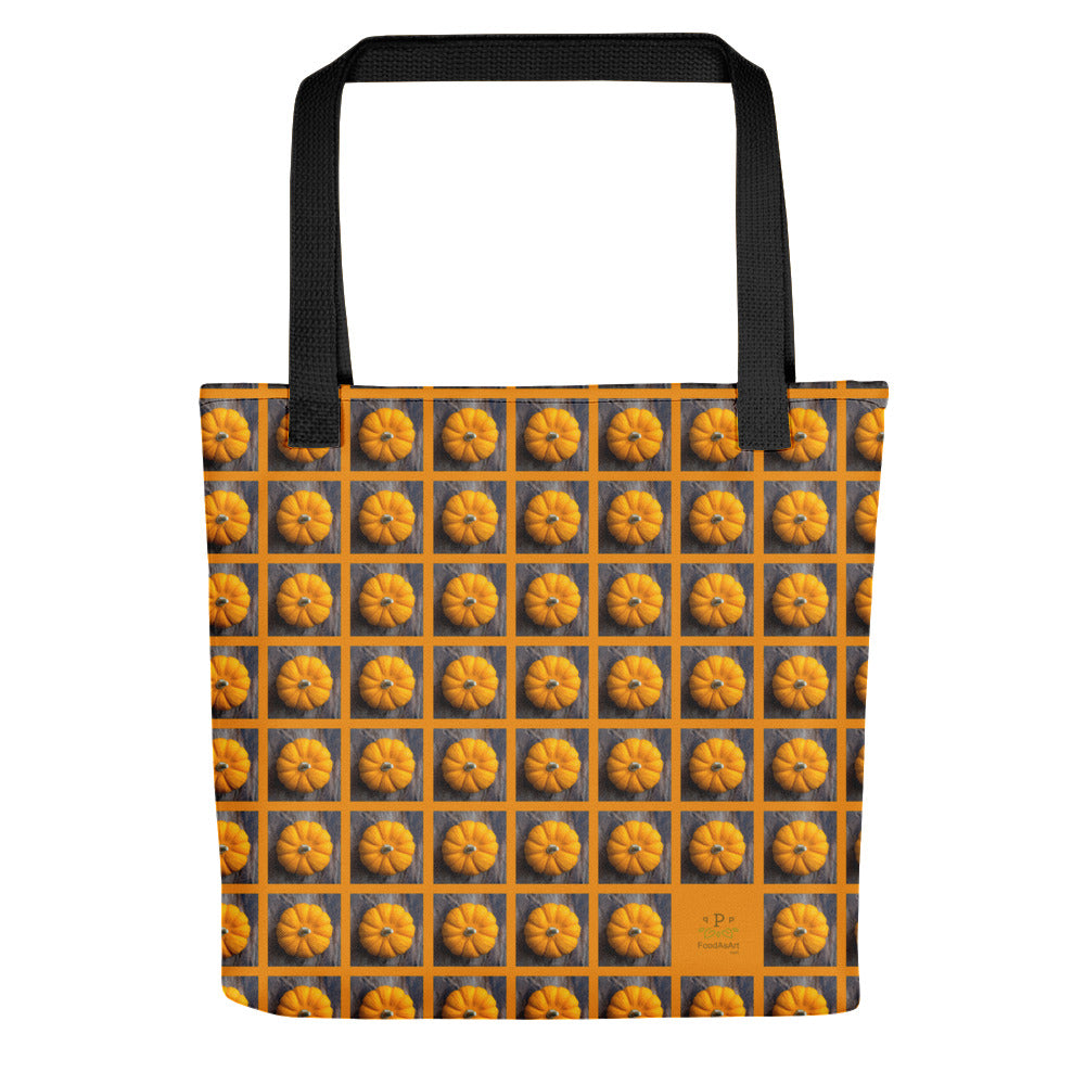 Tote Bag, Pumpkins on brown