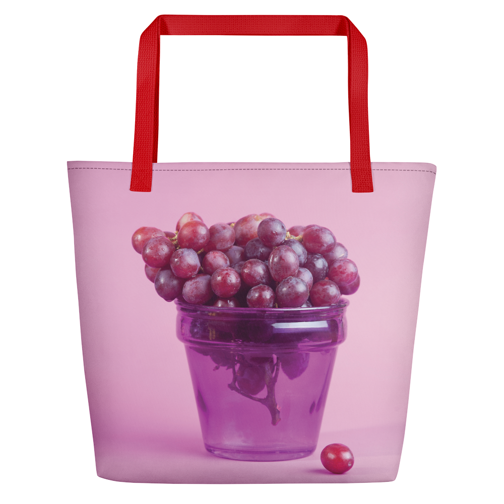 Large Tote/Beach Bag purple grapes