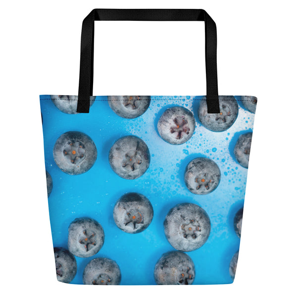 Large Tote/Beach Bag blueberries