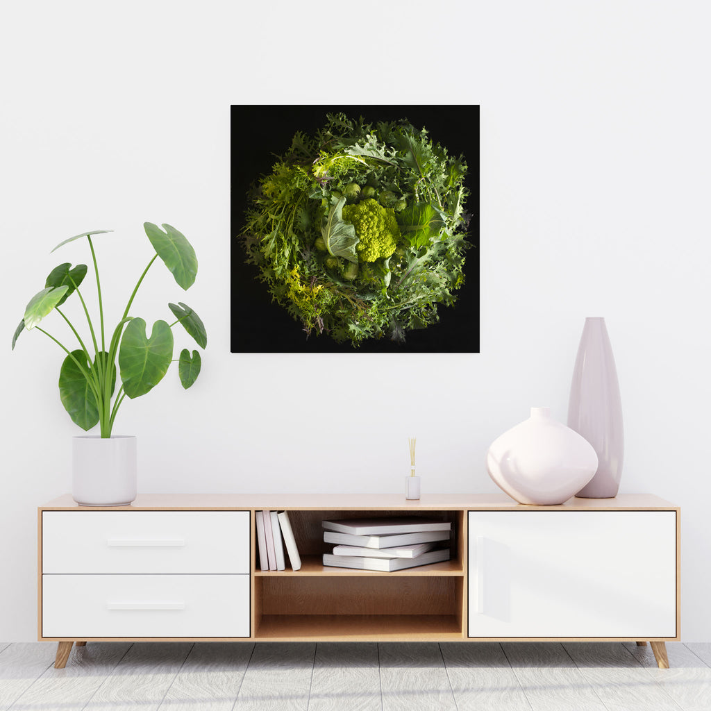 Mandala Fine Art Metal Print, Green