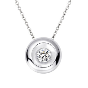Collier solitaire diamant