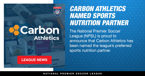 Carbon Athletics Named Preferred Sports Nutrition Partner of the NPSL