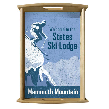 Personalized Serving Tray, Ski Lodge