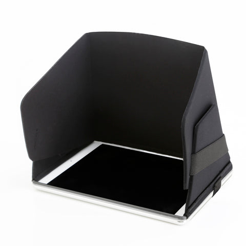 "Collapsible Molded iPad Sun Shade and Privacy Hood Fits 9.7"" Screens- New Design!"