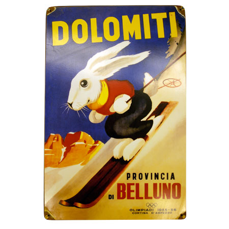 Dolmiti Olympic Metal Ski Sign