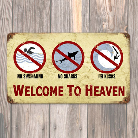 Surf Heaven Metal Sign