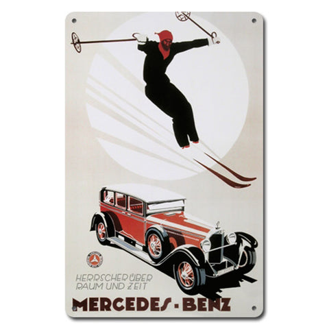 Mercedes Benz Metal Ski Sign