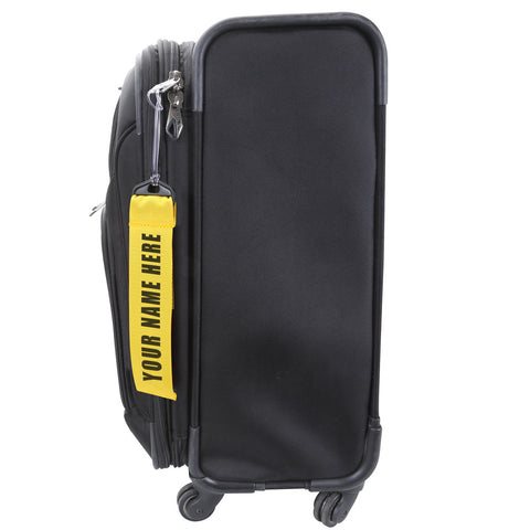 Personalized Yellow Luggage Tag