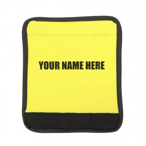Personalized Yellow Luggage Handle Wrap