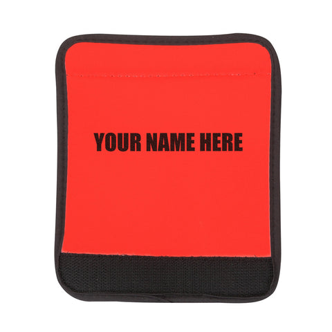 Personalized Red Luggage Handle Wrap