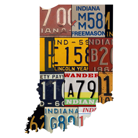 INDIANA License Plate Plasma Cut Map Sign, FREEMASONS Metal Sign Garage Art Patriotic Sign Holiday Gift