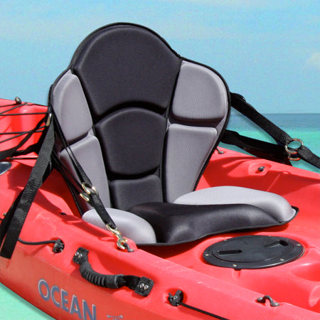 GTS Expedition Molded Foam Kayak Seat- No Pack, Sit On Top Kayak Seat, Super Supportive Lumbar Support, Comfortable Kayak Seat, High Quality Luxury Kayak Seat, Made in the USA