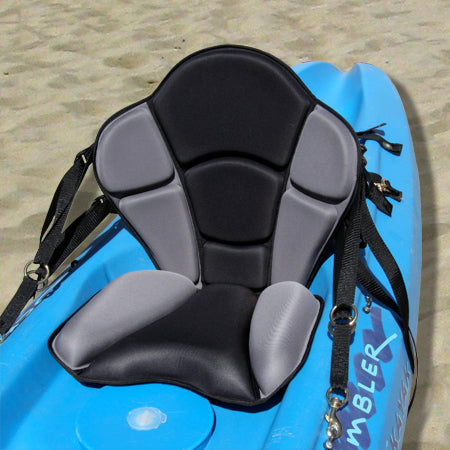GTS Expedition Molded Foam Kayak Seat – with Water Bottle Pack