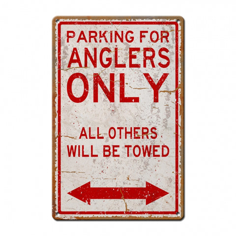 Anglers Parking Metal Sign
